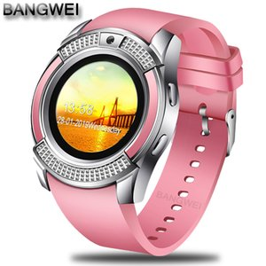 Bangwei 2019 New Women Smart Watch Led Color Screen Fashion Sport Pedometer Clock Android Smart Phone Watch Relogio Inteligente Y19051503