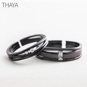 Thaya Until The Rings End S925 prata Sterling Silver Personalidade simples para o amor aniversário dom mulheres