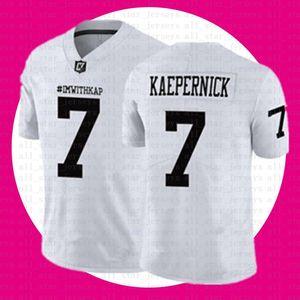 ucuz satış IM İLE KAP Formalar Siyah Beyaz NCAA IMWITHKAP Formalar 7 Colin Kaepernick Amerikan futbolu Jersey Tom Brady Saquon Barkley