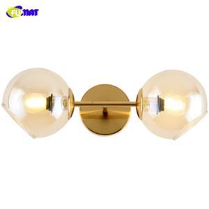 FUMAT Nordic Modern E14 Led Wall Lamp Glass Balls Shades Wall Lamps Living Room Bedside Sconces Bedroom Wall Lights