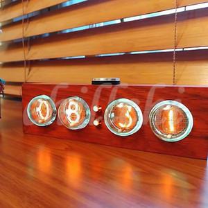 배달 불능 우편물 CLOCK IN-4 빛 튜브 시계 전자 시계 나무 tubularbell, 풀 컬러 LED 백라이트, 독특한 손잡이를 작동