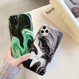 Water Wrinkle Ink Painting for IPhone 11 Pro Max Marble 7plus Silicone Phone Case Cover