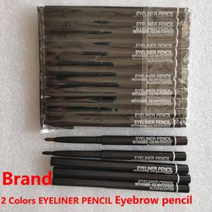 Marka M Göz Makyaj Dönen Geri Çekilebilir Siyah Kahve Eyeliner Kalem Su Geçirmez Kaş Eyeliner Kalem Kozmetik Aracı 2 Renkler