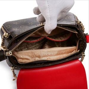 Diseñador-Mujeres Geometría de impresión Bolsos de diseño de lujo Bolsos de hombro V Lock Clamshell Cremallera Crossbody