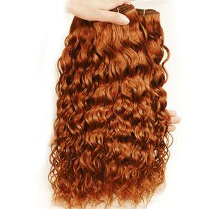 Moyen Auburn Vague péruvienne humaine Bundles de cheveux offres N ° 30 Chatain humide et onduleux de cheveux humains Weave Bundles Auburn Hair Extensions Trame