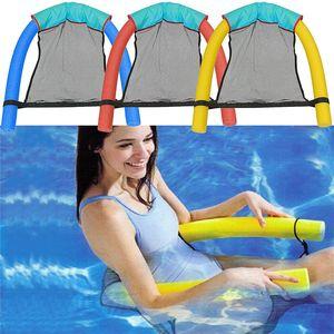 Cadeira flutuante Malha Hammock Piscina Assentos Incrível Cama Flutuante Cadeira Macarrão Piscina Esportes de Água Brinquedo