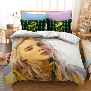 Billie Eilish 3D Printed Bedding Set Popolare Singer girl stampato copripiumino con Federa Letto twin set completi Regina King Size Bed
