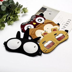 Komik Maymun Gözler Gözbağı Shades Parti Maskeler Relax Seyahat için Maske Göz Kapağı Sleeping siperliği Sevimli Karikatür Tiger Hayvanlar Maske