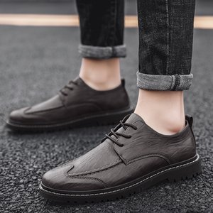 Hot Sale Casual Shoes Mens Anti Slip Leather Shoes Men Good Quality Fashion Men Sneakers Comfortable Shoe