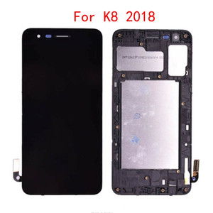 LCD 10pcs per Digitizer Assemblea completa LG Aristo 2 K8 Screen Display LCD Touch 2018 X210MA SP200 MX210 LCD con la struttura