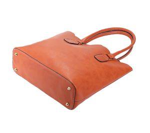 Designer-Atacado personalizado Faux Leather Top Handle Bag Scalloped Casual Tote da bolsa com duas alças pode ser Embroideried