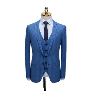 2019 New Boutique Mens Suits Bridegroom Suits Wedding Dresses Three-Piece Men Suits