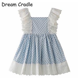 Dream Cradle Spain Детская детская одежда Испанское платье для девочек / кружево, горошек, хлопок J190612