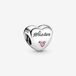 New Arrival 100% 925 Sterling Silver Sister's Love Charm Fit Original European Charm Bracelet Fashion Jewelry Accessories