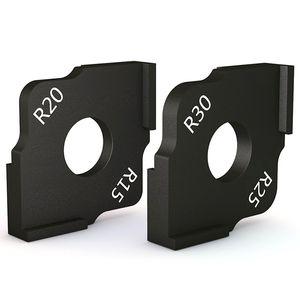 Ronda ángulo SHGO CALIENTE de poda de máquina de grabado de la máquina Ronda Corner R Arco carpintería semicírculo posicionamiento rápido Plantilla Demasiado