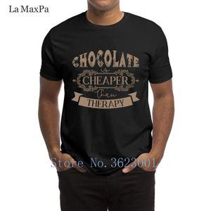 Designing Kawaii T-Shirt Chocolate Is Cheaper Than Therapy T Shirt Slogan Spring Tee Shirt Super Round Collar Tshirt Loose