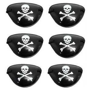 10pcs Pirate Eye PatchMask Eyeshade Couverture ordinaire pour adulte Lazy amblyopie Skull Patch Eye Costume Toys Masque Halloween