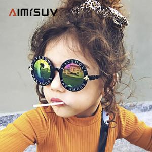 Crianças do vintage do AIMISUV Steampunk ÓCULOS DE CRIANÇA Meninas Rodada Quadro de Luxo Bee Sunglasses Boy UV400 Oculos Feminino