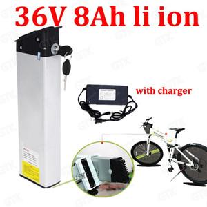GTK 36v 8AH Li-Ionen-Akku Verstecken Lithium-Batterie 18650 BMS 10s für 36V 500W Mountainbike Elektro-Fahrrad Roller + 2A Ladegerät