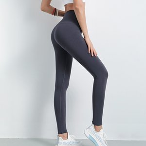 4 colores para mujer Leggings Yoga Pantalones de cintura alta melocotón caderas Run Tight Pantalones Slim Fit Stretch Quick Fitness-secado Yoga Deportes
