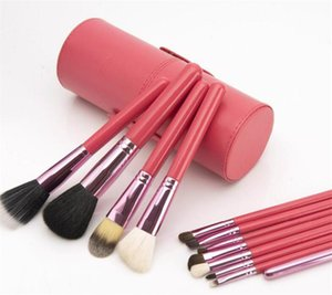 12pcs de maquillage de Brosses avec de la laine de cylindre matériaux de fibres chimiques quatre couleurs pinceaux de maquillage de santé légers et confortables.