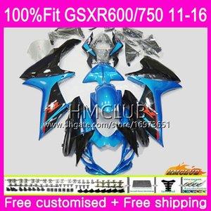 Впрыск для SUZUKI GSXR 600 750 GSXR750 11 12 13 14 15 16 8HM.60 GSXR-600 K11 GSXR600 2011 2012 2013 2014 2015 2016 Black Blue Fairings