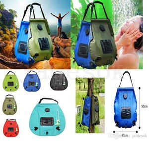hot Solar energy bath bag outdoor self-drive camping water bag portable outdoor sun bath water storage bag Watering Equipments dc704