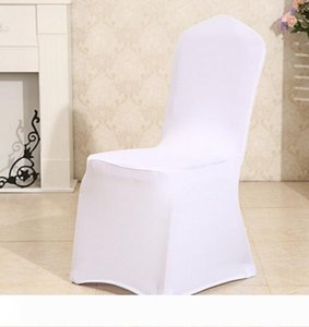 Elastic chairs covers sash white color hotel decor banquet celebration wed ceremony office decoration stretch banquet