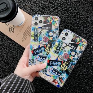 cas de téléphone de luxe iPhone 11 pro max XS XR 8 7 plus peaceminusone x Fragment étiquette fleur couverture de téléphone Designer de mode