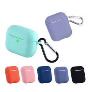 With Key Chain Ultra Thin Soft Silicone TPU Cover for Apple Airpods Case for Airpods pro TWS Headset Cases Wireless Earbuds Bags