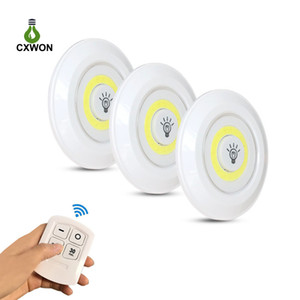 Wireless LED Puck Light COB Dimmable Warm White LED Closet Light Wardrobe kitchen Bedroom Stair Under Cabinet Lights