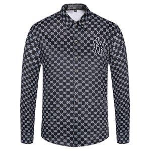 Wholesale Men's Shirt 2020 Fashion Brand Korean Wild Casual Slim Long Sleeve Formal Shirt Men Patch Large Size White Clothes M-XXXL