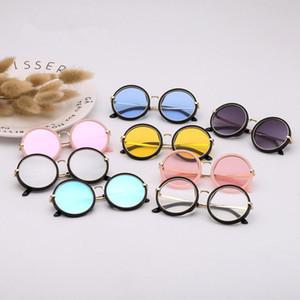Mode für Kinder Runde Sonnenbrille Mädchen Full Frame Sommer-Strand-Brillen Sun Shades Brille im Freien Spielraum Reiten Brillen TTA1576