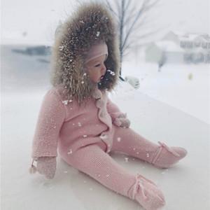 Новорожденный одежда Зимний комбинезон детский зимний комбинезон Baby Boy теплая одежда Ползунки вниз хлопка девушки младенца Шинель малышей одежды
