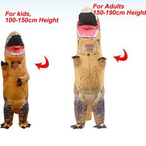 Only for Children Inflatable Costume Dinosaur 100-150cm T REX advertisedBlow Up walking moving Mascot Cosplay Costume