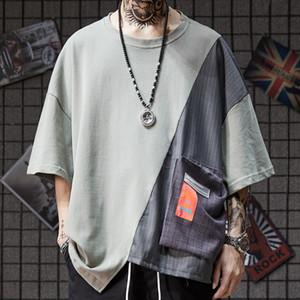 T-shirt a maniche corte OVERSIZE irregolare a cinque maniche T-shirt da porto giapponese vintage nell'estate del 2019 t shirt da uomo firmate TEE