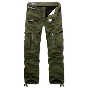 Drop Shipping New Men Winter Men's Cargo Pants Baggy Trousers 3 Colors 28-40 Without Belt Axp112 SH190816