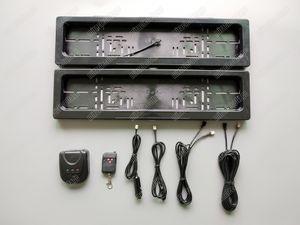 Control remoto automático de la UE ocultar el marco de la placa de la matrícula, tamaño europeo 52 * 11cm Shutter Cortina Stealth Hidden Placa Holder