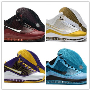 James 7 Tüm yıldızı Red Carpet Erkek Basketbol Ayakkabı Beyaz Siyah Kırmızı Cam Mavi Ucuz Satış James 7'ler Moda Spor Sneakers ABD 7-12 Soğutma