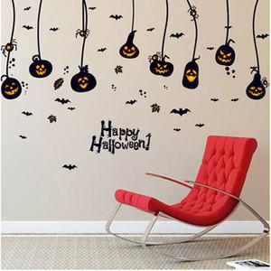 Wandaufkleber Steuern Wanddekor Halloween Aufkleber Kinderzimmer Schlafzimmer Dekoration DIY Kürbis Lampe Poster Tapete Wandtattoos