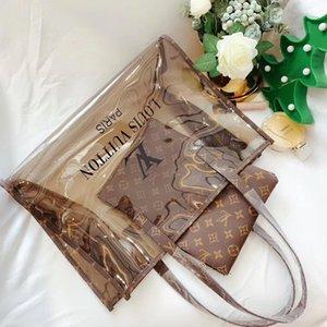 2pcs set high qulity classic Designer womens handbags flower ladies composite tote PU leather clutch shoulder bags female purse with walYY00