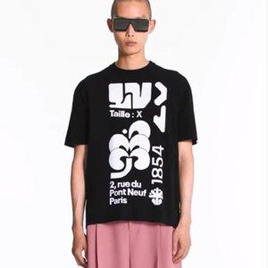 19FW monograma Jacquard mistura de lã T-shirt kintting 1854 Jacquard Moda Tee Casual manga curta da rua T-shirt HFLSTX519