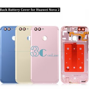 For Huawei Nova 2 Battery Back Cover Aluminum Housing Door Case + Side keys +Camera Glass Lens Replacement Repair Spare Parts