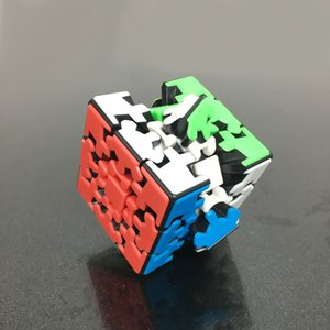 Freeshipping Роскошная Style Magic Cube Puzzle Новый дизайн 3x3x3 Abnormity Stickerless Speed ​​Magic Cube Puzzle