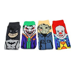 Vengadores de Marvel de dibujos animados calcetines Batman Superman Joker cosplay de la manera calcetín divertido de la novedad ocasional de los hombres de primavera y verano calcetín calcetines caliente