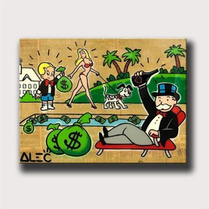 Alec Monopoly Cartoon Building,HD Canvas Printing New Home Decoration Art Painting (Unframed Framed)marvel Villains