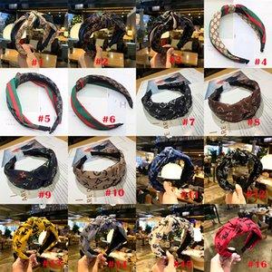 Bandes de tête pour les femmes Bow Noeud Bandeau massif Croix Noeud Femmes HeadHeads Hoop Corée Doux Simple Filles Bandeau Accessoires