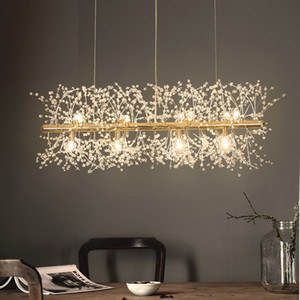 Lampadario a fiocco di neve Lampada in stile nordico Personalità creativa Modello in cristallo Atmosphere Light Illuminazione soggiorno di lusso