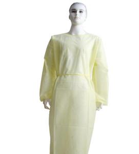 На складе Нетканой защиты Мантия Одноразовых защитной изоляции одежда пылезащитного Комбинезон водонепроницаемых изоляции Одежда Костюм GGA3540-4