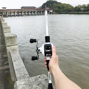 1.8-2.4m canne à pêche casting ultra-léger en carbone ultra-léger, combo 17 + 1BB 6.3: 1 gauche droite moulinet leurre bateau bâton de roche bâton pesca